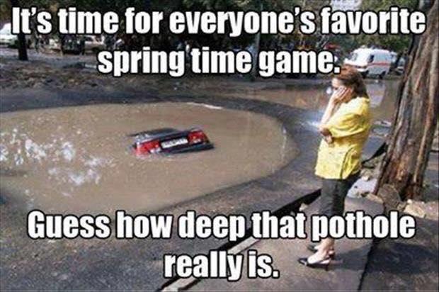 deep pothole